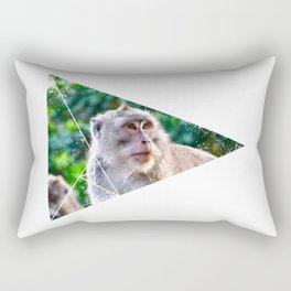 Monkey In The Jungle Rectangular Pillow