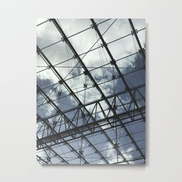 Glass Ceiling II (Portrait) - Architectural Photography Metal Print