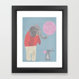 bubble fun Framed Art Print