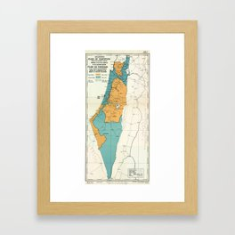 Map of Palestine Plan of Partition with Economic Union Framed Art Print