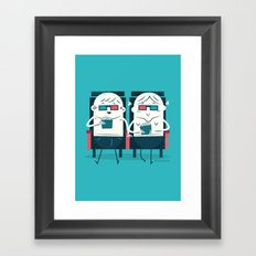 :::Cinema Couple::: Framed Art Print