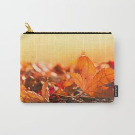 Autumnlights I  Gold marple leaves at backlight Carry-All Pouch
