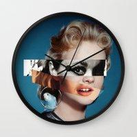 goddess Wall Clocks featuring Goddess by Alba Blázquez