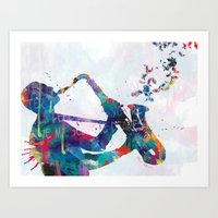 music Art Prints featuring music by mark ashkenazi
