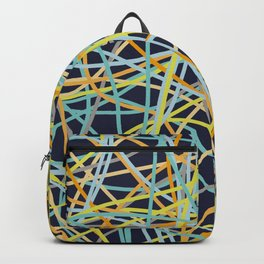 Colored Line Chaos #11 Backpack