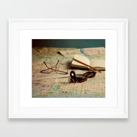 maps Framed Art Prints featuring Maps by Sciuridae