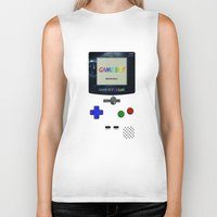 gameboy Biker Tanks featuring GAMEBOY by MiliarderBrown