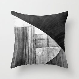 Stone Circle Meets Square Concrete Abstract Throw Pillow