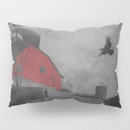 Rustic Red Barn Black White Country Home Decor Farmhouse Art A659 Pillow Sham
