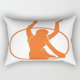 Golden Avatar Orange Rectangular Pillow