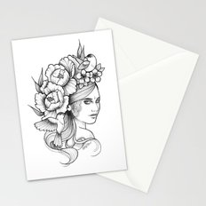 Birds and Peonies Stationery Cards
