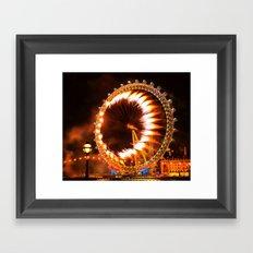The London Eye Fireworks Framed Art Print