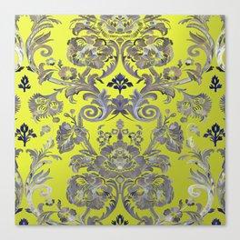 Painted Tibetan Brocade yellow Canvas Print