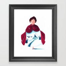 winter lady Framed Art Print