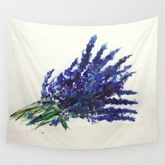Fresh Cut Lavender Watercolors On Paper Wall Tapestry