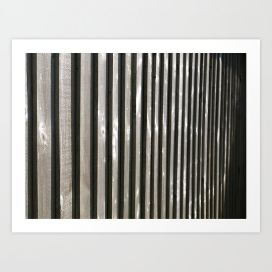 PARALLEL LINES SHADES OF GREY Art Print