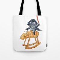 darth vader Tote Bags featuring Darth Vader by gunberk