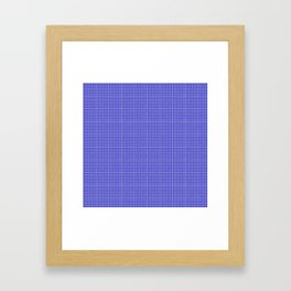 Blue Gingham Framed Art Print