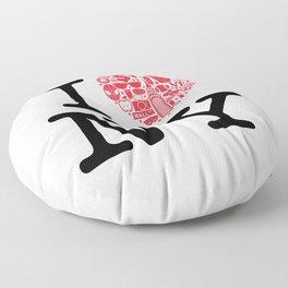I everything NY Floor Pillow