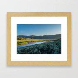 Lamar Valley Yellowstone Sunset Framed Art Print
