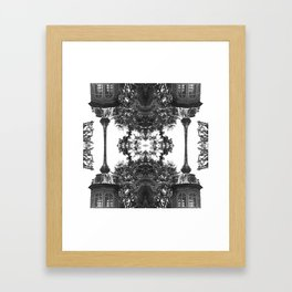 Minimal abstract psychedelic Framed Art Print