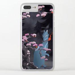 Hokkaido Wolf Clear iPhone Case