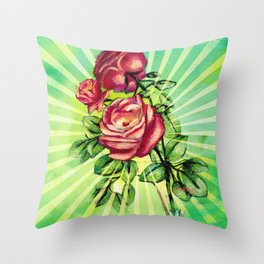 Convergency: Rose from a Lilypad Throw Pillow