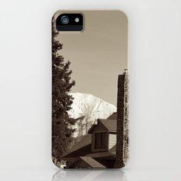 Summit Lake Lodge iPhone Case