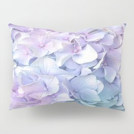 Soft Pastel Hydrangea Pillow Sham