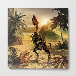 Tyrannosaurus skeleton Metal Print