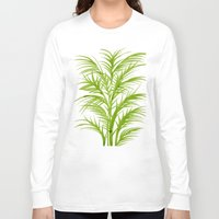 lime Long Sleeve T-shirts featuring Lime Palms by Cat Coquillette