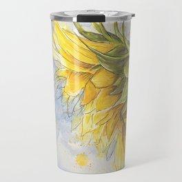 Helianthus annuus: Sunflower Abstraction Travel Mug