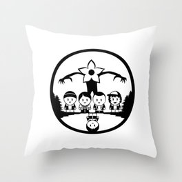 Stuck in the upside down, Stranger thing gift Throw Pillow