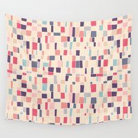 grid Wall Tapestries featuring grid by Marta Olga Klara