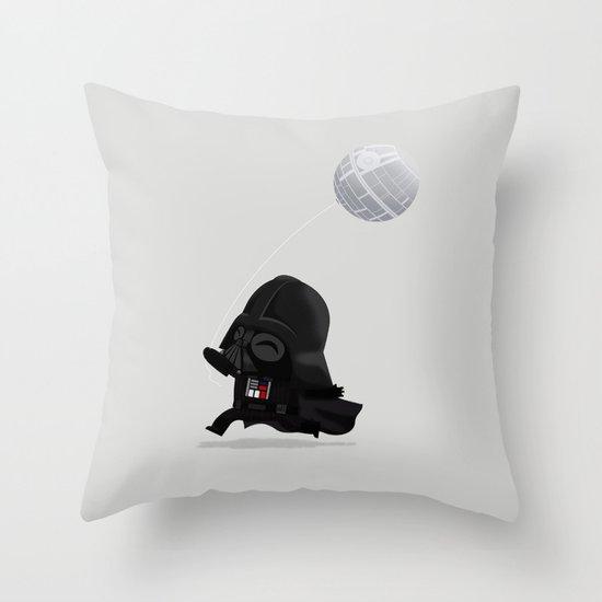 Beware, the Darth Star Throw Pillow