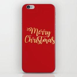 Merry Christmas Type iPhone Skin