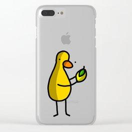 Lemon Drop Duck | Veronica Nagorny Clear iPhone Case