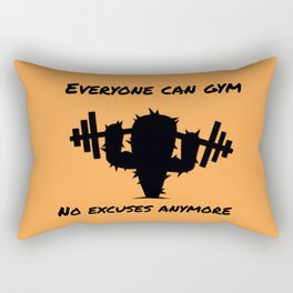 Gym cactus Rectangular Pillow