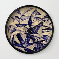 planes Wall Clocks featuring Paper Planes by Fernando Vieira