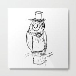 Mysterious owl Metal Print