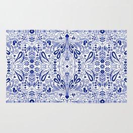 Chinoiserie Folk Seamless Pattern Rug