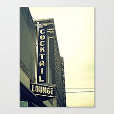 Cocktail ~ chicago vintage sign Canvas Print