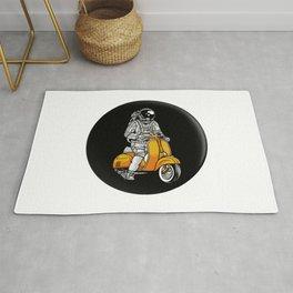 Astronaut Riding Vespa Rug