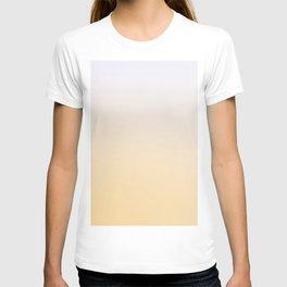 DESTINATION UNKNOWN - Minimal Plain Soft Mood Color Blend Prints T-shirt