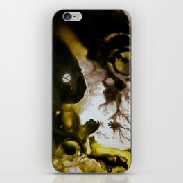 Alien embryo, acrylic on canvas iPhone Skin