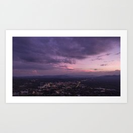 Asheville Stormy Nights Passing By Art Print