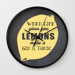 When Life Gives you Lemons Make a Gin and Tonic Wall Clock