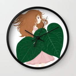 Plant Lady with Anthurium Magnificum  Wall Clock