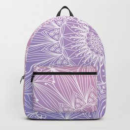Floral mandala on pastel shades n.1 Backpack