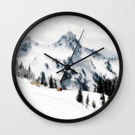 Snow Camp Paradise Wall Clock